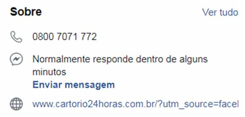 cartorio 24 horas facebook 2