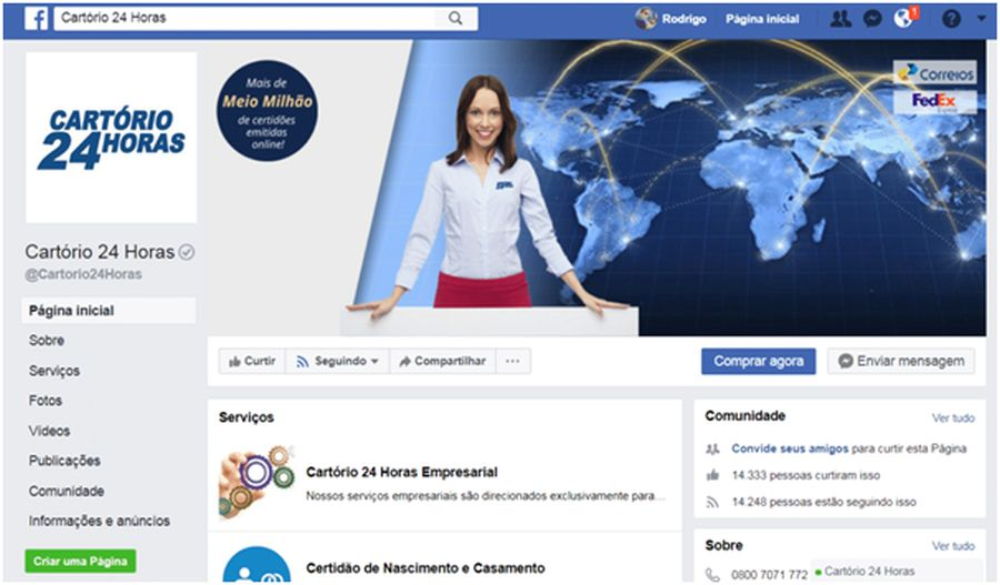 cartorio 24 horas facebook